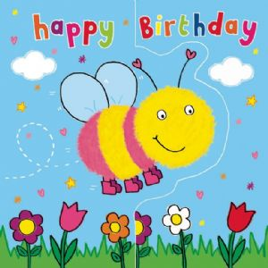 Bumble Bee Birthday Card, Sparkly Card,  Pop Out Card TW191